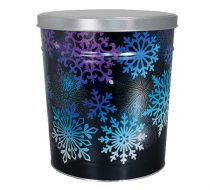Snowflake popcorn tin by Colby Ridge