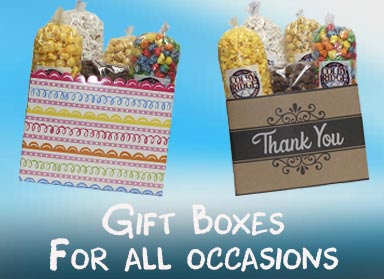 popcorn and candy gift box