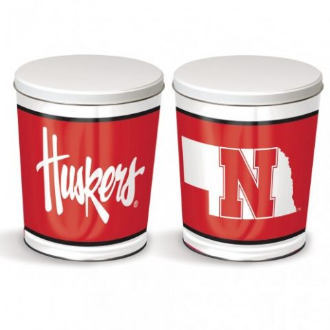 huskers popcorn tin from colby ridge