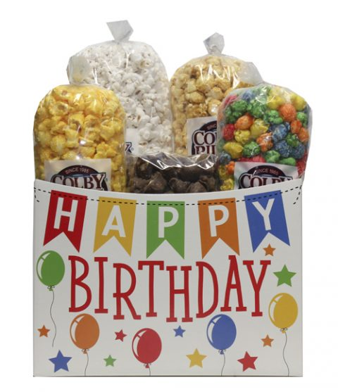 happy birthday popcorn box assortment