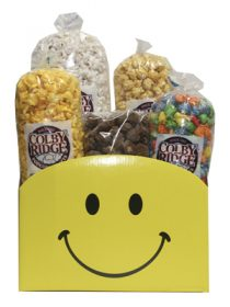 popcorn smiley face box assortment
