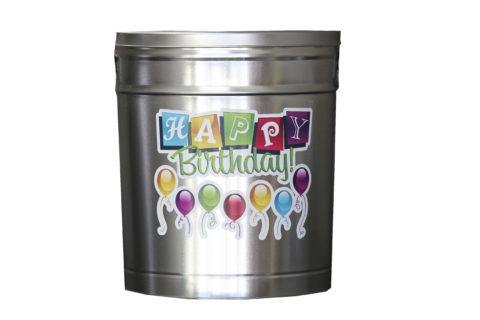 happy birthday popcorn canister