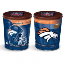 Denver Broncos popcorn canister from colby ridge