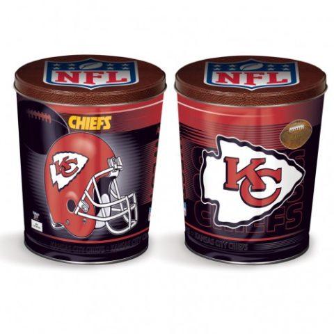 kansas city chiefs popcorn canister