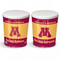 minnesota golden gophers popcorn canister