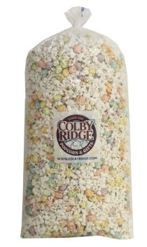 popcorn party bag white and pastel