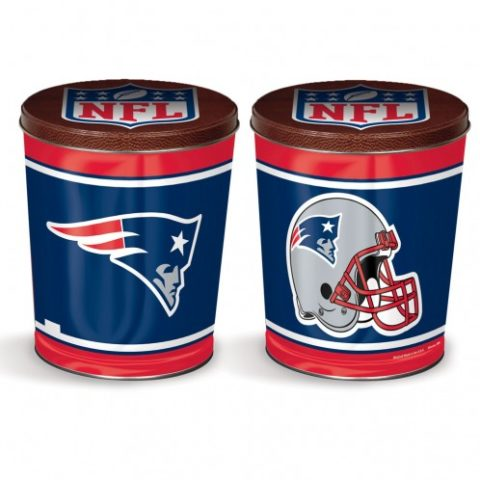 New England Patriots popcorn canister from colby ridge