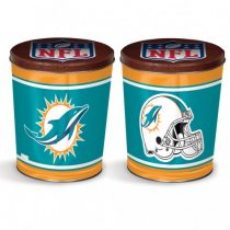 miami dolphins popcorn canister