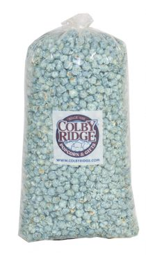 popcorn party bag baby blue