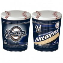 milwaukee brewers popcorn canister