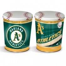 oakland athletics popcorn canister