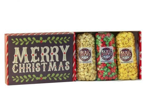 merry christmas popcorn gift pack