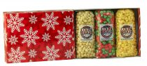 red snowflake popcorn gift assortment